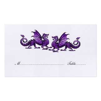 Purple Elegant Dragons Wedding Place Card Pack Of Standard Business Cards