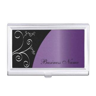 Purple Elegant Personalize Card Holder