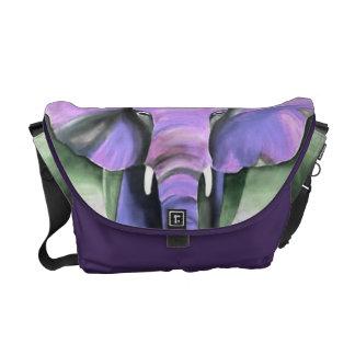 purple elephant bag courier bag