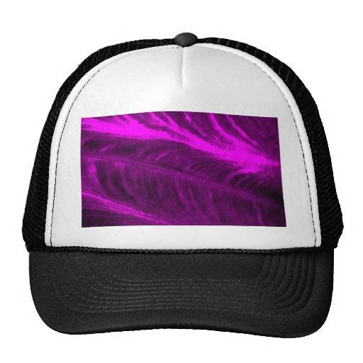 Purple Elephant Ear Textured Look Trucker Hats
