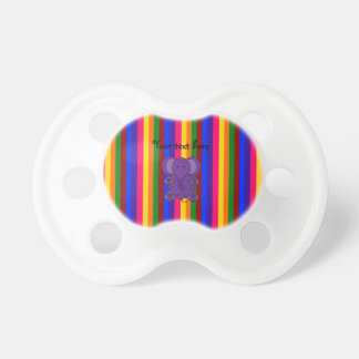 Purple elephant rainbow stripes dummy