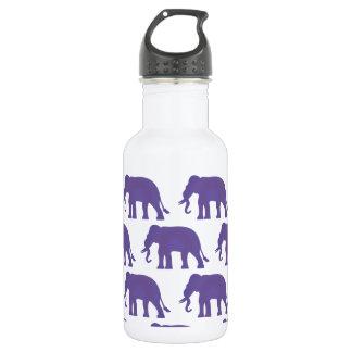 Purple elephants 532 ml water bottle