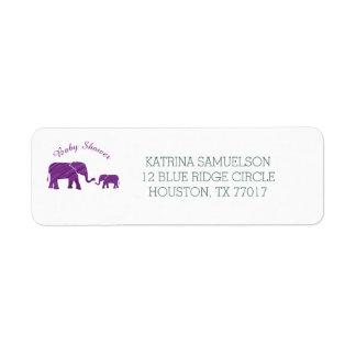 Purple Elephants Baby Shower
