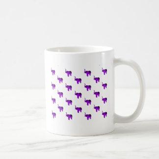 Purple Elephants Pattern Basic White Mug