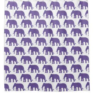 Purple elephants shower curtain