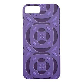 Purple Embossed Phone Case