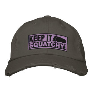 Purple EMBROIDERED Keep It Squatchy - Bobo s Embroidered Hat