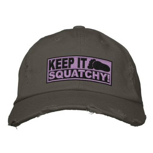 Purple *EMBROIDERED* Keep It Squatchy! - Bobo's Embroidered Hat