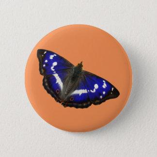 Purple Emperor Butterfly 6 Cm Round Badge