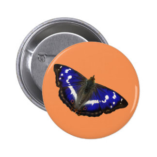 Purple Emperor Butterfly 6 Cm Round Badge