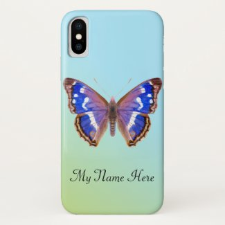 Purple Emperor Butterfly Hand Painted Watercolor Case-Mate iPhone Case