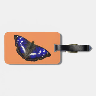 Purple Emperor Butterfly Luggage Tag