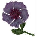 Purple Enamel Flower Magnet Photo Sculpture Magnet