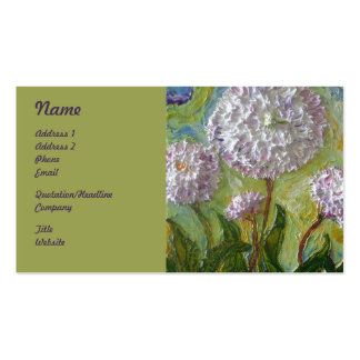 Purple English Daisies Floral Business Cards