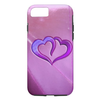 Purple Engraved Hearts iPhone 8/7 Case