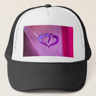 Purple Engraved Hearts Trucker Hat