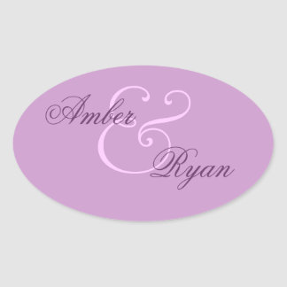Purple Envelope Seal Wedding