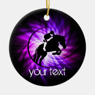 Purple Equestrian Christmas Ornament