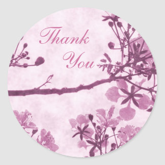 Purple Eternal Bliss- Thank You Round Stickers