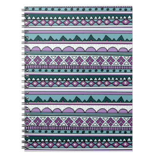 Purple ethnic pattern notebook