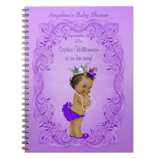 Purple Ethnic Princess Baby Shower Guest Book