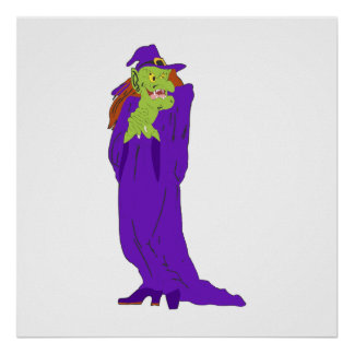 Purple Evil Witch Posters
