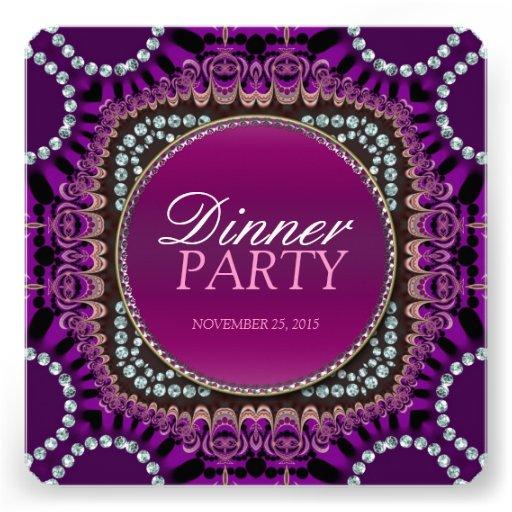 Purple Exotic Eastern Dinner Party Invitation