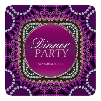 Purple Exotic Eastern Dinner Party Invitation