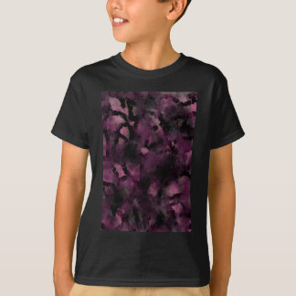 Purple Experimental Textures T-Shirt