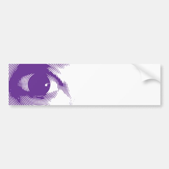 Purple eye bumper sticker