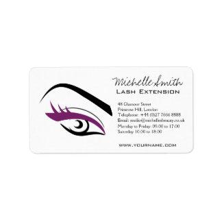Purple Eye long eyelashes Lash extension  icon Address Label