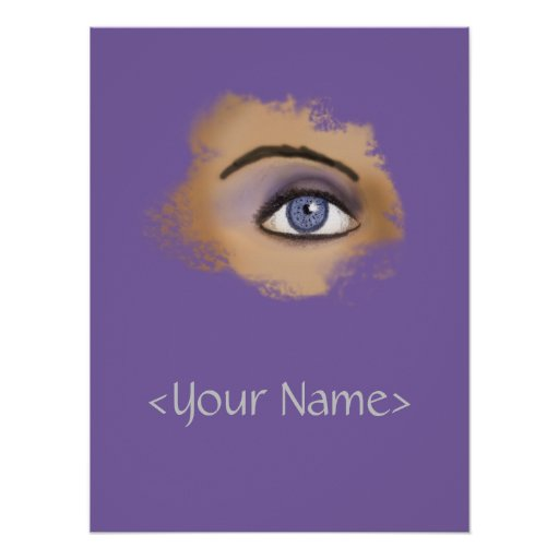 Purple Eye Makeup Poster