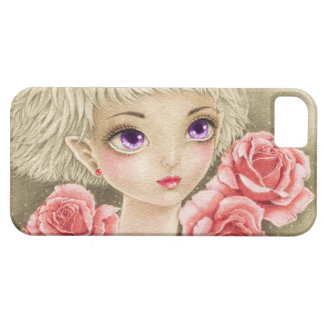 Purple eyed girl with roses barely there iPhone 5 case