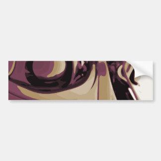 Purple Eyed Robot Bumper Sticker