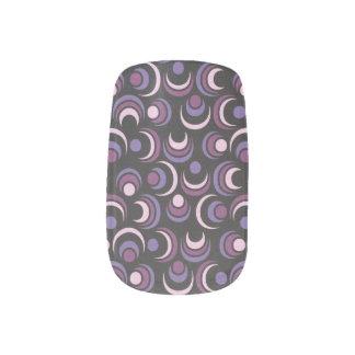 Purple Eyes Minx Nail Art