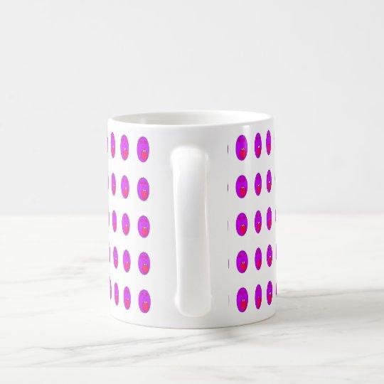 Purple face coffee mug