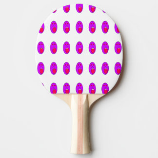 Purple face ping pong paddle