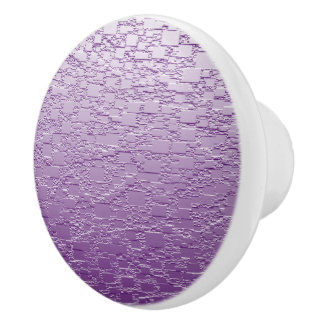 Purple Fade Mini Tile Design Ceramic Knob