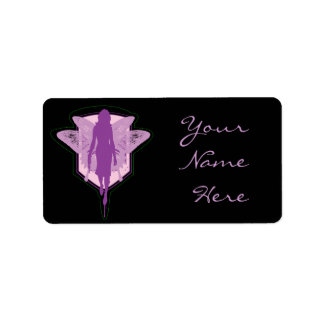 Purple Fairy Address Label
