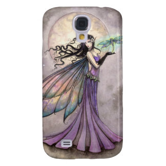 Purple Fairy and Dragonfly Fantasy Art Galaxy S4 Case