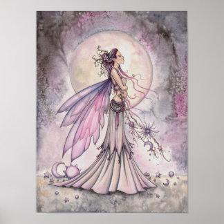 Purple Fairy Fantasy Art Illustration Poster