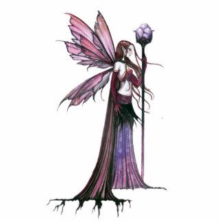 Purple Fairy Photo Sculpture Ornament