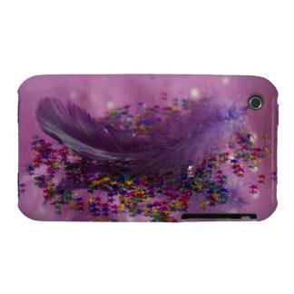 Purple Fairys Feather iPhone 3 Cover