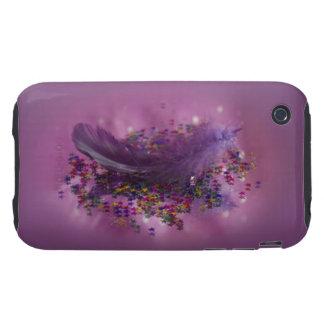 Purple Fairys Feather Tough iPhone 3 Case