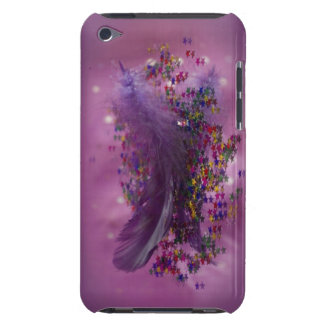 Purple Fairys Feather iPod Touch Case