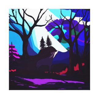 Purple Fantasy Forest Canvas Print