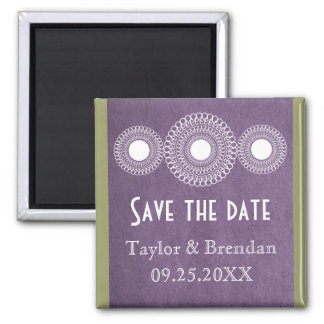 Purple Far East Elegance Save the Date Magnet