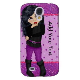 Purple Fashionista Galaxy S4 Cover