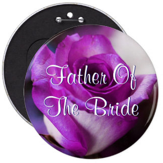 Purple Father Of The Bride Rose 6 Cm Round Badge
