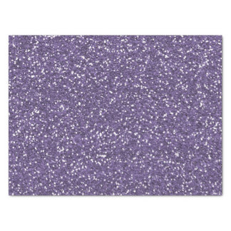 Purple Faux Glitter Tissue Paper